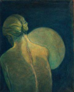 Scar 2, 2017, oil on canvas, 50 x 40 cm
