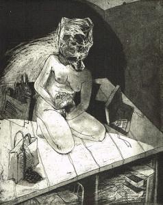 We're all bleeding 8 (B/W) , 2012, 25 x 20 cm, etching/aquatint, edition 15