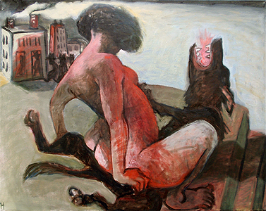 Beasts 4, 2012, oil on canvas, 70 x 90 cm