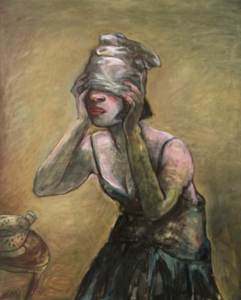 Blind man's bluff, 2016, oil on canvas, 87 x 72 cm