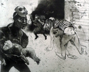 The Crying Game 11, 2015, etching/aquatint, 20 x 25 cm, edition 30