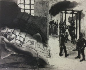 The Crying Game 13, 2015, etching/aquatint, 20 x 25 cm, edition 30