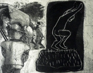 The Crying Game 14, 2015, etching/aquatint, 20 x 25 cm, edition 30
