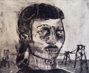 The Crying Game 17, 2015, sugar lift aquatint, 20 x 25 cm, edition 30