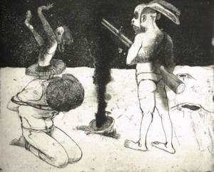 The Crying Game 2, 2015, etching/aquatint, 20 x 25 cm, edition 30