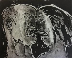 The Crying Game 20, 2015, sugar lift aquatint, 20 x 25 cm, edition 30