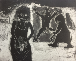 The Crying Game 23, 2017, etching/aquatint, 20 x 25 cm, edition 30