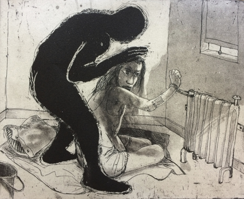 The Crying Game 26, 2017, etching/aquatint, 20 x 25 cm, edition 30