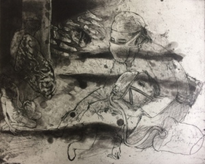 The Crying Game 27, 2017, etching/aquatint, 20 x 25 cm, edition 30