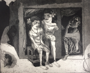 The Crying Game 29, 2017, etching/aquatint, 20 x 25 cm, edition 30