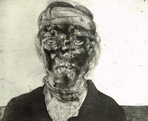The Crying Game 3, 2015, etching/aquatint, 20 x 25 cm, edition 30