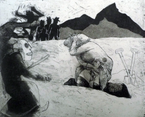 The Crying Game 5, 2015, etching/aquatint, 20 x 25 cm, edition 30