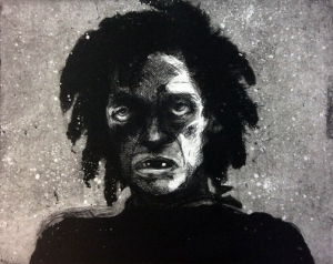 The Crying Game 7, 2015, etching, 20 x 25 cm, edition 30