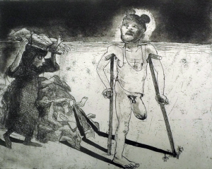The Crying Game 8, 2015, etching/aquatint, 20 x 25 cm, edition 30