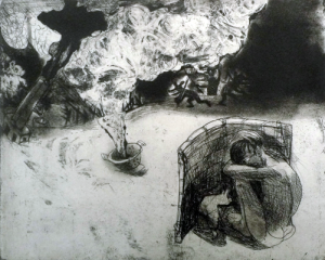 The Crying Game 9, 2015, etching/aquatint, 20 x 25 cm, edition 30