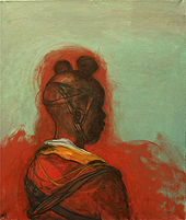 Child soldier 1, 2012, oil on canvas, 67 x 56 cm
