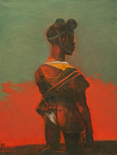 Child soldier 2, 2012, oil on canvas, 86 x 66 cm