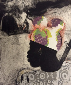 Child Soldier 4, 2015, 30 x 25 cm, etching/aquatint/collage, #1, V.E 30