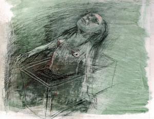 DW10- 6/3, 2016, pencil, oil on board, 24 x 30cm