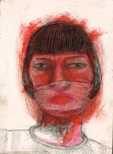 DW16-11/3, 2016, pencil, oil on board, 21 x 15cm