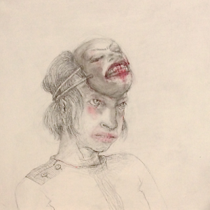 DW18-20/3, 2016, pencil, oil on board, 30 x 30cm