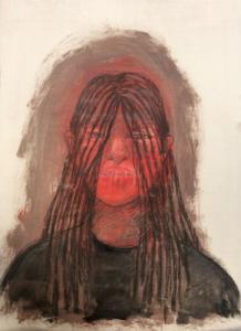 DW24-28/3, 2016, pencil, oil on board, 41 x 30cm