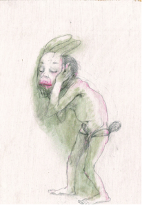 DW33–8_5, 2016, pencil, oil on board, 29 x 19 cm