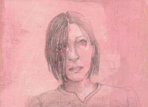 DW34–23_5, 2016, pencil, oil on board, 40 x 30 cm