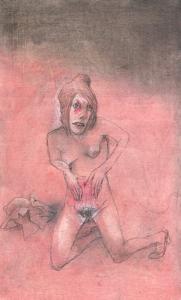 DW39-11/6, 2016, pencil, oil on board, 29 x 17,5 cm