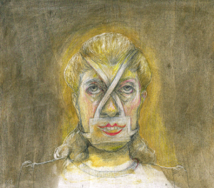 DW42–18/6, 2016, pencil, oil on board, 27 x 30 cm