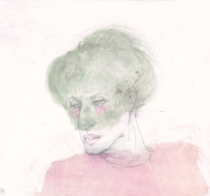 DW47–30/6, 2016, pencil, oil on board, 27 x 30 cm