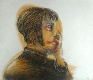 DW52-27/4, 2016, pencil, oil on board, 30 x 35 cm