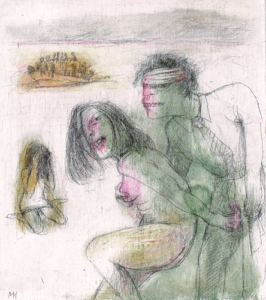 DW68-8/8, 2016, pencil, oil on board, 20 x 20 cm