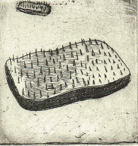 Endless nights 4, 2011, etching, 8 x 8 cm, edition 15