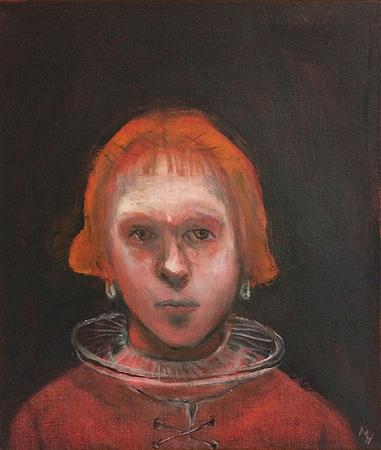 La Hollandaise, 2018, oil on canvas, 36 x 32 cm