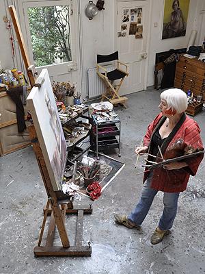 Marcelle Hanselaar in her Studio