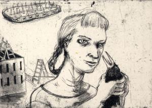 M. Ca-ca, 2008, etching, 15.5 x 12 cm, edition 15