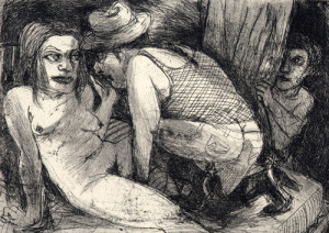 Object of desire, 2008, etching, 11 x 16 cm, edition 15