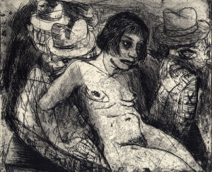 Venus trap, 2008, etching, 11 x 13 cm, edition 15