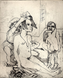 African queen, 2007, etching, 25 x 20 cm, edition 30