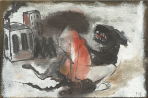Beasts 1, 2012, oil on canvas, 21 x 31 cm