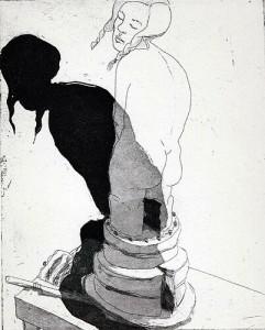 Birthday girl, 2002, etching, 25 x 20 cm, edition 25