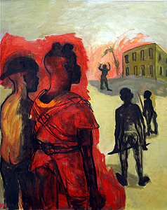 Child soldier 3, 2013, oil on canvas, 100 x 92 cm