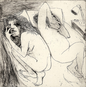 Couple, 2006, etching/aquatint, 19 x 19 cm, edition 30