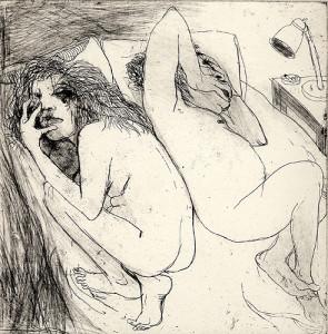 Couple, 2006, etching/aquatint, 19 x 19 cm, edition 30