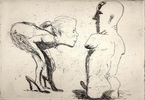 Curiosity, 2001, etching/aquatint, 18 x 25 cm, edition 25