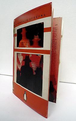 Displaced, Unique artist book, Altered book, 2014, 18,5 x 12,5 cm - book cover
