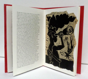 Displaced, Unique artist book, Altered book, 2014, 18,5 x 12,5 cm - page 2