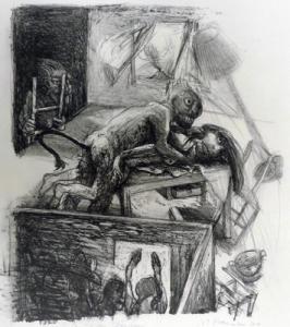 Droit du seigneur, 2010, stone litho, 52 x 42 cm, edition 20