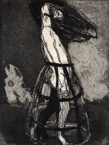 Full-moon activity, 2001, etching/aquatint, 16 x 12 cm, edition 25